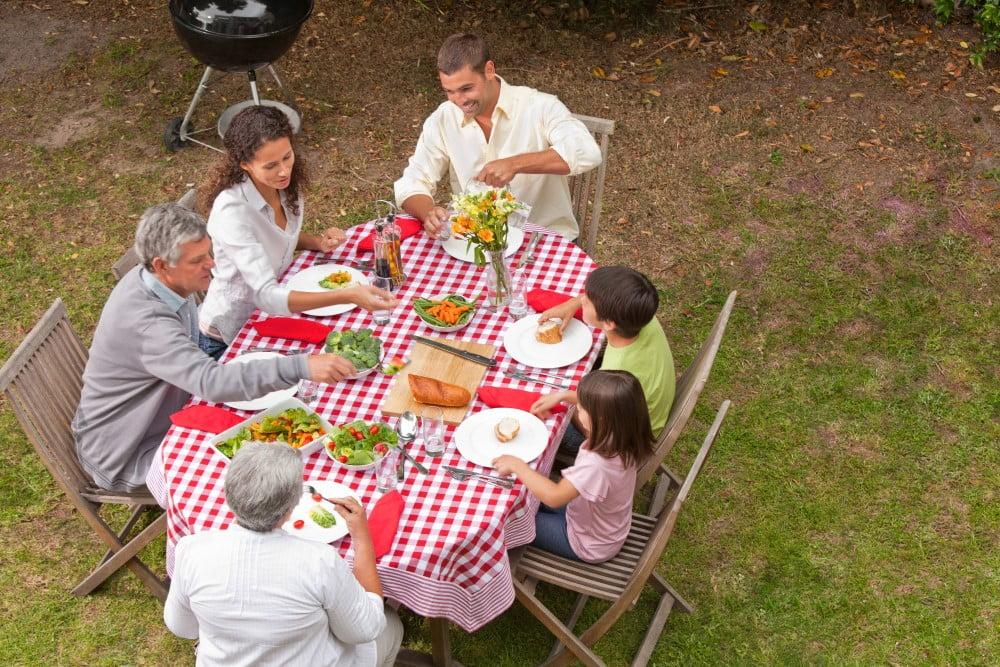 Familie der spiser i haven